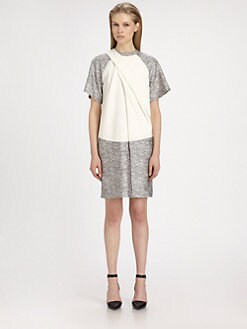 Alexander Wang - Draped Raglan T-Shirt Dress