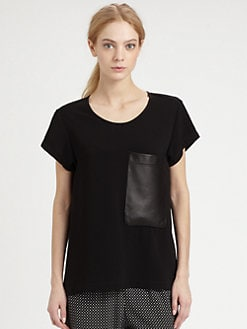 Rag & Bone - Leather-Pocket New Basic Tee