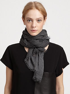 Rag & Bone - Tie-Print Wool/Silk Scarf