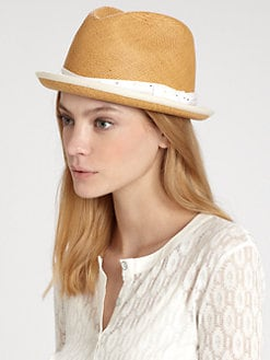 Rag & Bone - Polka-Dot Straw Fedora