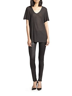 T by Alexander Wang - Classic Silk-Finish Slub Tee