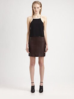 T by Alexander Wang - Cropped Silk Chiffon Camisole