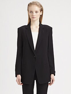 T by Alexander Wang - Viscose Crepe Blazer