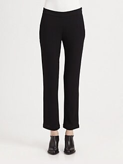 T by Alexander Wang - Cropped Crepe Flare Pants