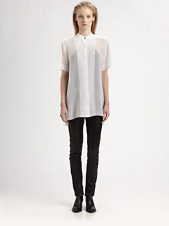 T by Alexander Wang - Silk Chiffon Shirt