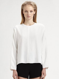 T by Alexander Wang - Lattice Open-Knit Slub Top