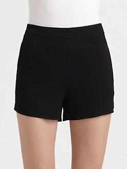 T by Alexander Wang - High-Waist Crepe Shorts