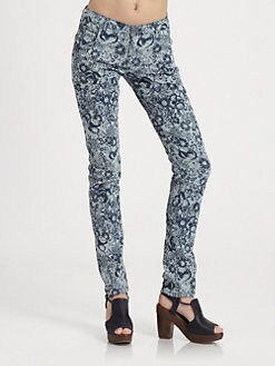 girl. by Band of Outsiders - Printed 5-Pocket Jeans