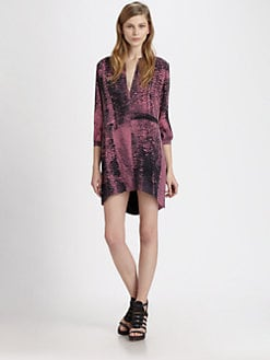 Kelly Wearstler - Arco Printed Hi-Lo Shirtdress