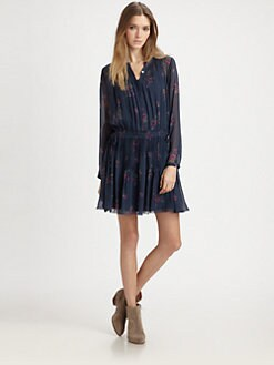 girl. by Band of Outsiders - Silk Chiffon Pintuck Dress
