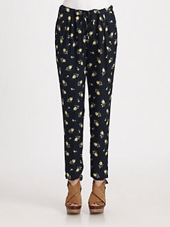 girl. by Band of Outsiders - High-Waist Silk Pants