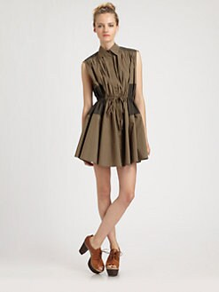 Thakoon Addition - Two-Tone Cotton Shirtdress