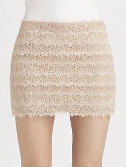 Haute Hippie - Lace Mini Skirt