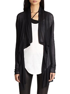 Helmut Lang - HELMUT Helmut Lang Voltage Draped Cardigan