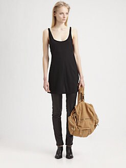 T by Alexander Wang - Criss-Cross Cutout Tank