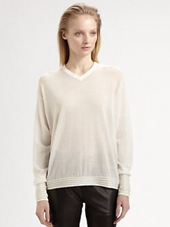 T by Alexander Wang - Corded Semi-Sheer Top