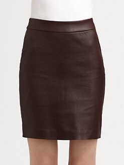 T by Alexander Wang - Leather Combo Pencil Skirt