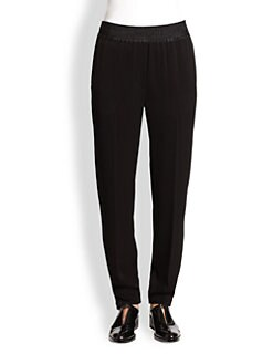 3.1 Phillip Lim - Silk Satin-Trimmed Straight Leg Pants