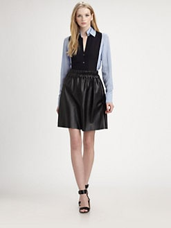 10 Crosby Derek Lam - Silk Double-Collar Contrast Shirt
