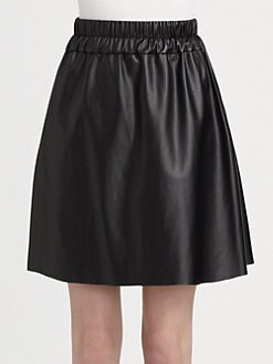 10 Crosby Derek Lam - Circled Flared Faux Leather Skirt