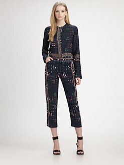 10 Crosby Derek Lam - Printed Stretch-Silk Blouse