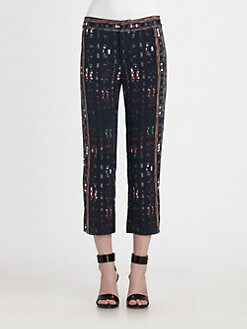 10 Crosby Derek Lam - Cropped Stretch-Silk Pants