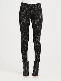Maison Martin Margiela MM6 - Printed Silk-Blend Leggings