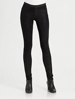 Helmut Lang - Patina Glossy Leather Leggings