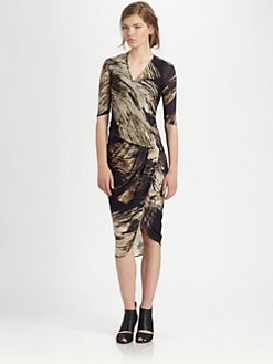 Helmut Lang - Drift-Print Dress