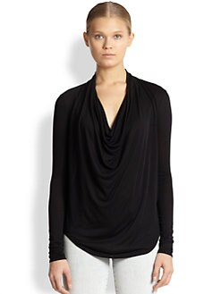 Helmut Lang - HELMUT Helmut Lang Kinetic Draped Jersey Top