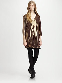 Whit - Orion Metallic Shift Dress