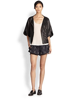 Thakoon Addition - Split-Sleeved Leather Jacket