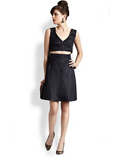 Thakoon Addition - Cutout-Waist Faille Dress