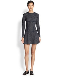 Thakoon Addition - Paneled Knit Tweed Dress