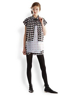 Thakoon Addition - Polka Dot & Houndstooth Stretch Cotton Shirt