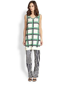 Thakoon Addition - Cotton & Cashmere Plaid Jacqard Tunic