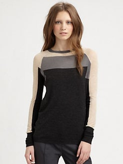 See by Chloe - Colorblock Wool Crewneck Sweater