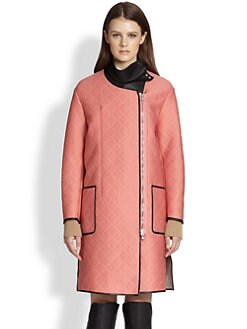3.1 Phillip Lim - Leather-Insert Quilted Neoprene Coat