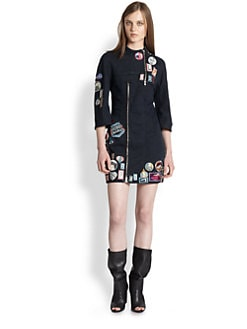 3.1 Phillip Lim - Cafe Racer Patched Denim Dress