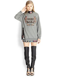 3.1 Phillip Lim - Embroidered Size-Zip Sweatshirt