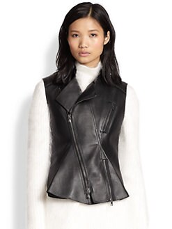 3.1 Phillip Lim - Leather Moto Peplum Vest