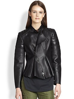 3.1 Phillip Lim - Leather Peplum Motorcycle Jacket