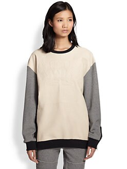 3.1 Phillip Lim - Sonomama Leather-Panel Sweatshirt