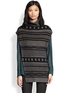 3.1 Phillip Lim - Asymmetric Jacquard Sweater Cape