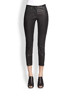 3.1 Phillip Lim - Jodphur Cropped Stretch-Leather Pants
