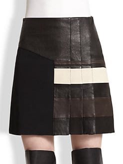 3.1 Phillip Lim - Leather Striped Skirt