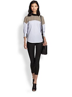 3.1 Phillip Lim - Patchwork Stretch-Cotton Shirt