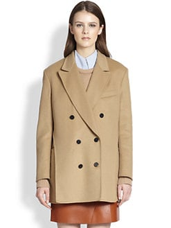 3.1 Phillip Lim - Layered-Effect Double-Breasted Wool Peacoat