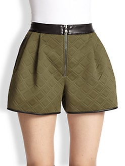 3.1 Phillip Lim - Embossed Neoprene Combo Shorts