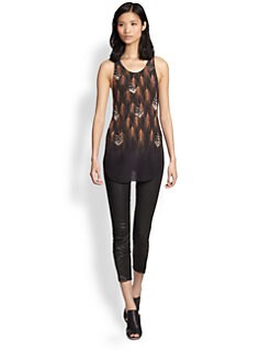 3.1 Phillip Lim - Silk Chiffon Beaded Wheat-Print Tunic